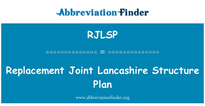 RJLSP: Replacement Joint Lancashire Structure Plan