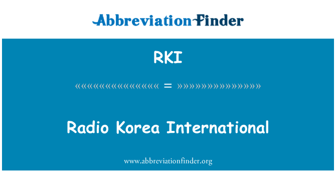 RKI: Radio Korea International