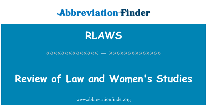 RLAWS: Review of Law and Women's Studies