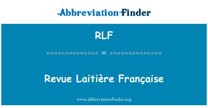 RLF: Revü Laitière Française