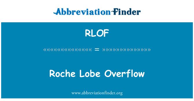 RLOF: Desbordamiento del lóbulo de Roche