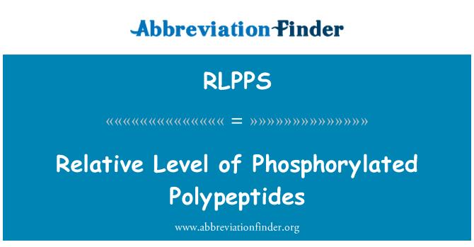RLPPS: Relative Level of Phosphorylated Polypeptides