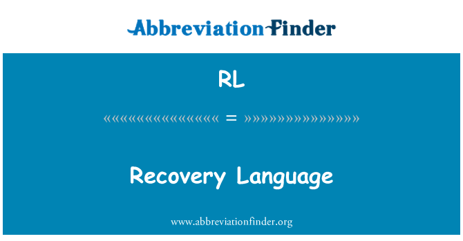 RL: Recovery Language
