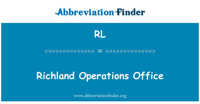 RL: Richland Operations Office