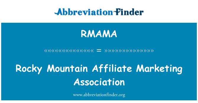 RMAMA: Rocky Mountain Affiliate Marketing Association