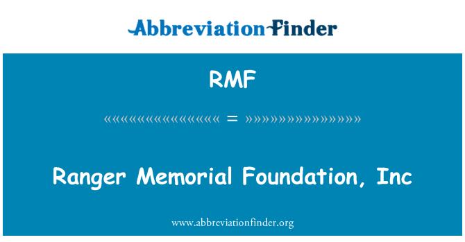 RMF: Ranger Memorial Foundation, Inc