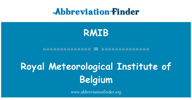RMIB: Royal Meteorological Institute of Belgium
