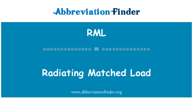 RML: Radiating Matched Load