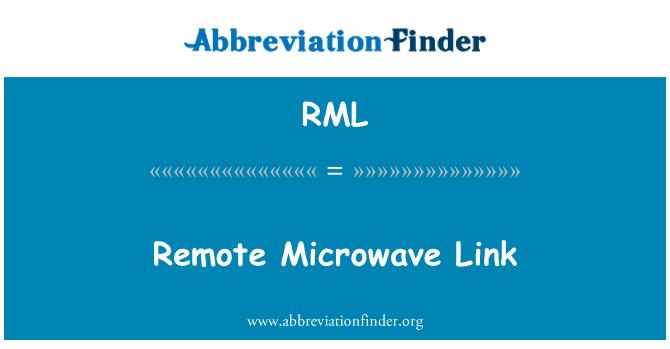 RML: Remote Microwave Link