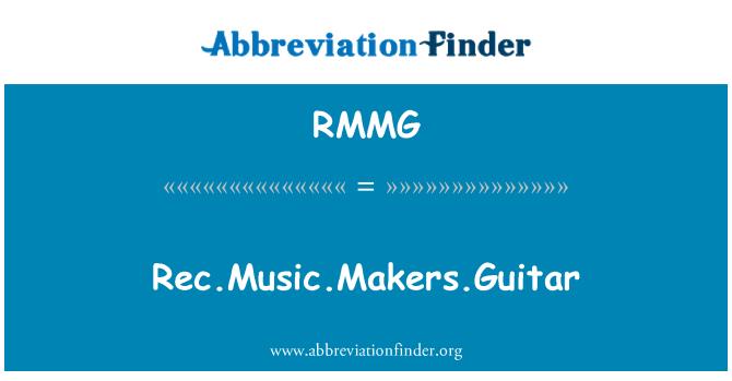 RMMG: Rec.Music.Makers.Guitar