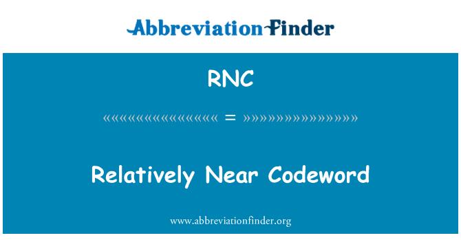 RNC: Relatively Near Codeword