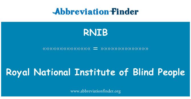 RNIB: Royal National Institute of pimedad inimesed