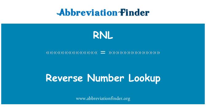 Look Up Number >> Rnl Maaritelma Kaanteinen Numero Haku Reverse Number Lookup