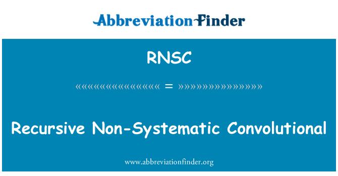 RNSC: Recursive Non-Systematic Convolutional