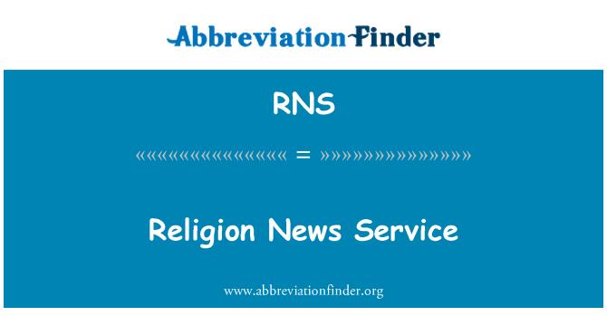 RNS: Religion News Service