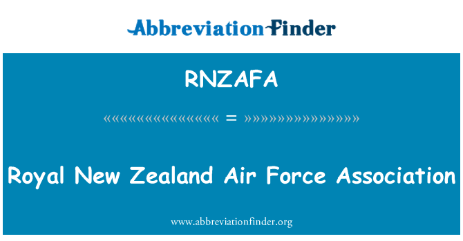 RNZAFA: Royal New Zealand Air Force Association
