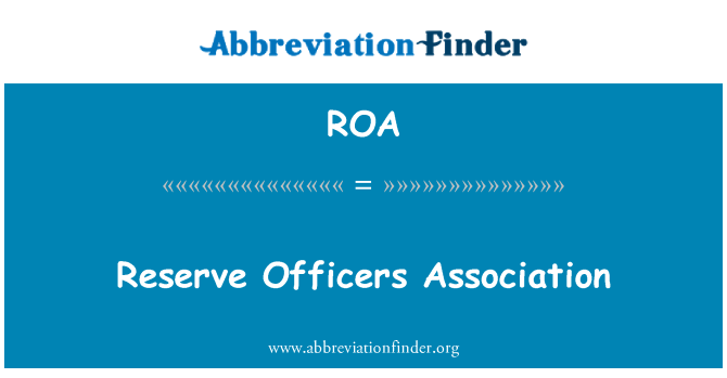 ROA: Reserve Officers Association