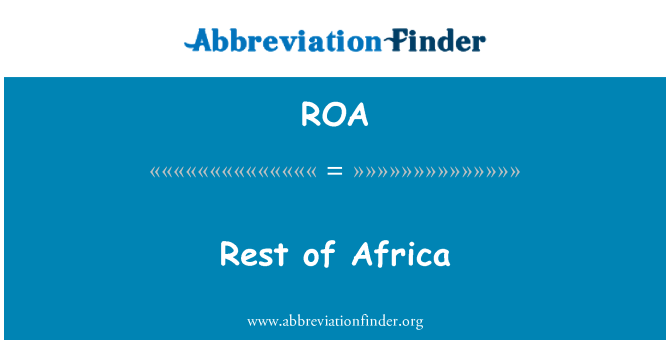 ROA: Rest of Africa
