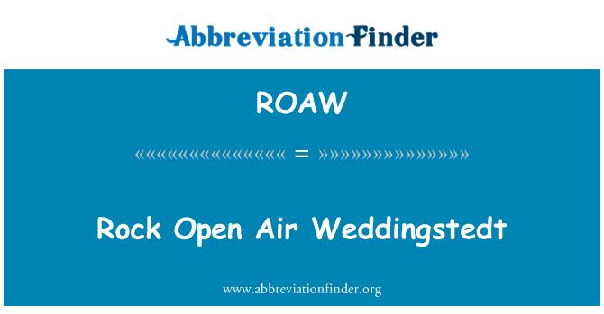 ROAW: Rock Open Air Weddingstedt