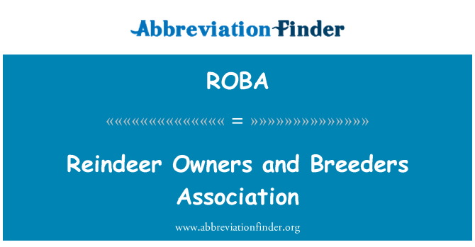 ROBA: Reindeer Owners and Breeders Association