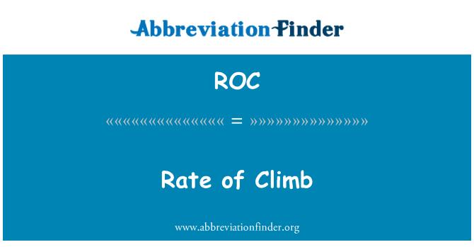 ROC: Rate of Climb