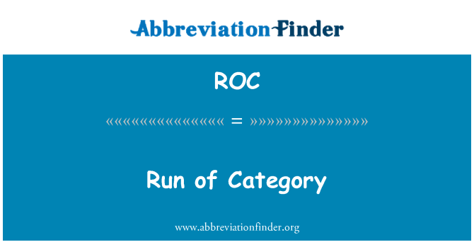 ROC: Run of Category