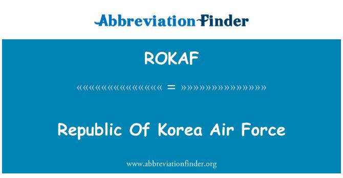 ROKAF: Fuerza aérea de Corea del sur