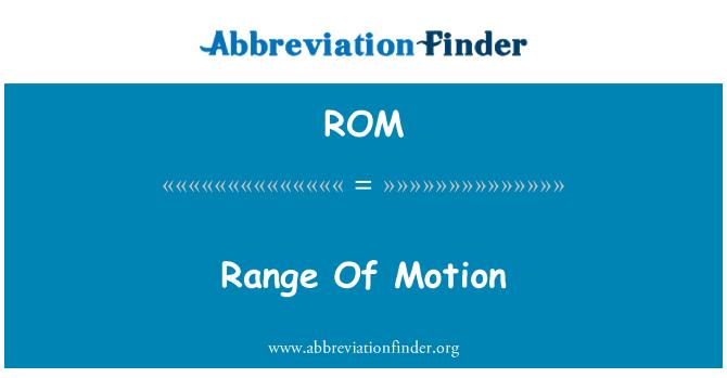 ROM: Range Of Motion