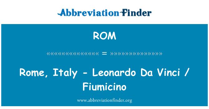 ROM: Rome, Italy - Leonardo Da Vinci / Fiumicino