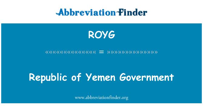 ROYG: Republic of Yemen Government