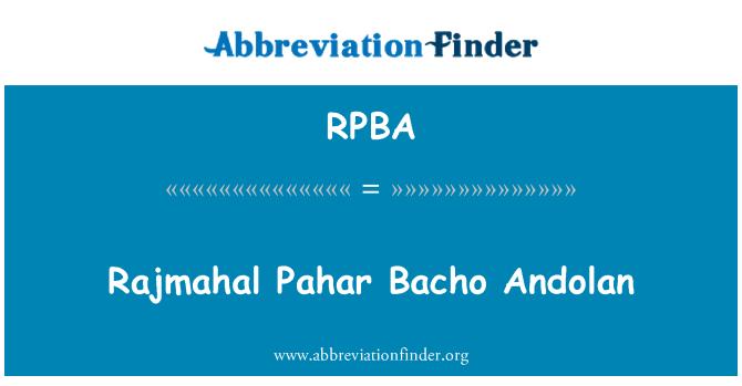 RPBA: Rajmahal Pahar Bacho Andolan