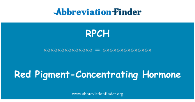 RPCH: Red Pigment-Concentrating Hormone