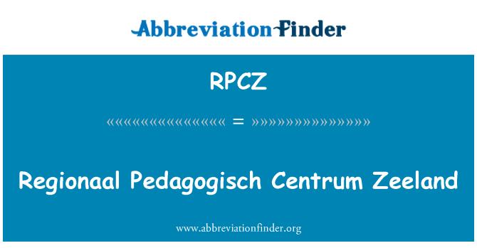 RPCZ: Regionaal Pedagogisch Centrum Zeeland