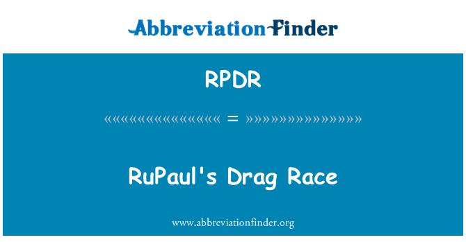 RPDR: RuPaul's Drag Race
