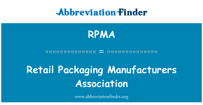 RPMA: Asociación de fabricantes de envases por menor