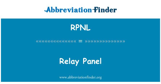 RPNL: Relay Panel