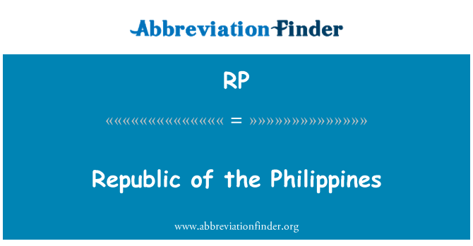 RP: Republic of the Philippines