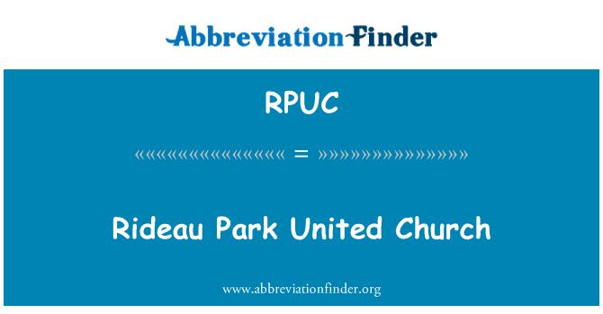 RPUC: Kilise Rideau Park Amerika