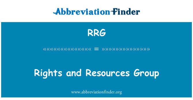 RRG: Rights and Resources Group