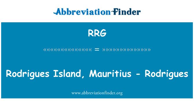 RRG: Rodrigues Island, Mauritius - Rodrigues