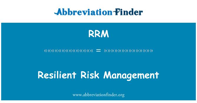 RRM: Gestión del riesgo resistente