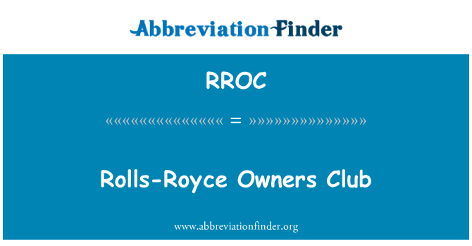 RROC: Rolls-Royce Owners Club