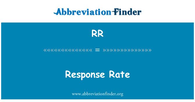 RR: Response Rate