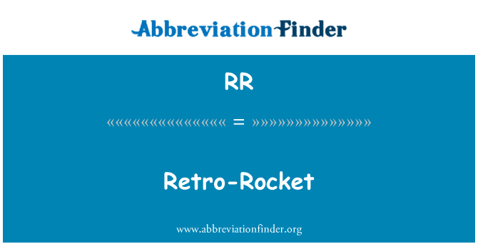 RR: Retro-Rocket