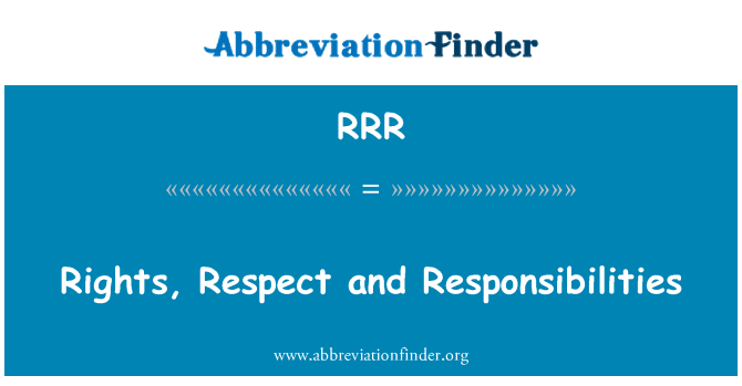 RRR: Rights, Respect and Responsibilities
