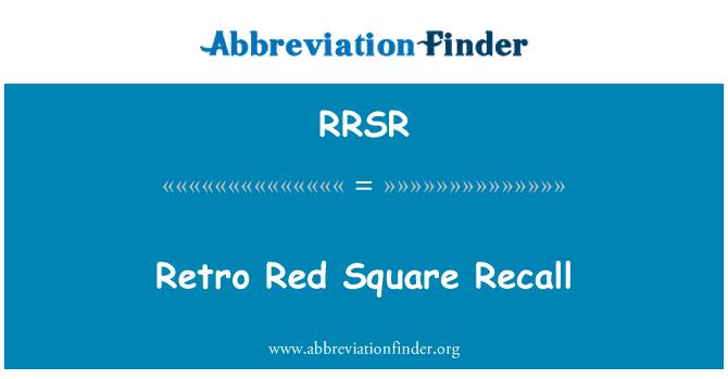 RRSR: Retro Red Square Recall