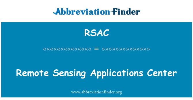 RSAC: Remote Sensing Applications Center