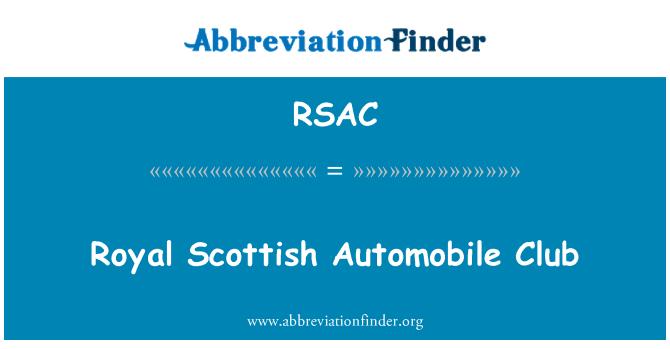 RSAC: Royal Scottish Automobile Club
