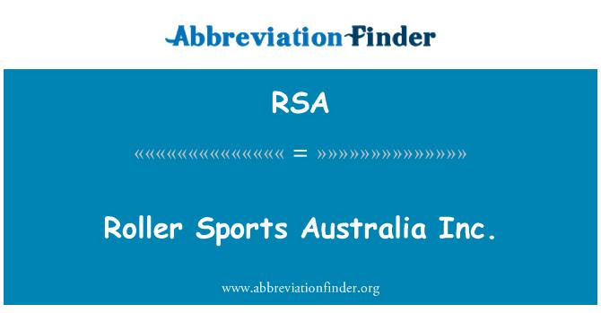RSA: Roller Sports Australia Inc.