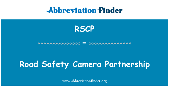 RSCP: Road Safety Camera Partnership